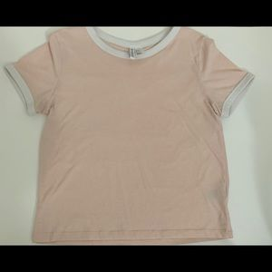 H&M Pink And White T-Shirt